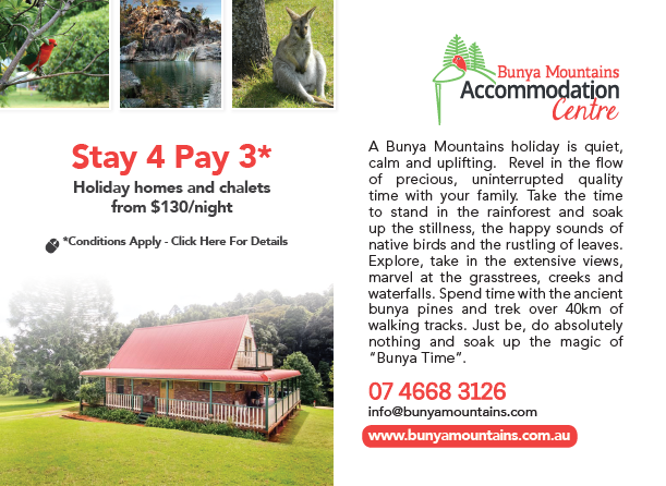 BUNYA MOUNTAINS - STAY & PAY OFFER
