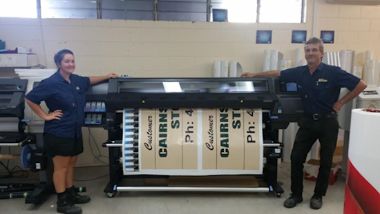 EXPRESSWAY SIGNS NEW PRINTER