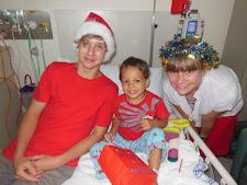 SCHOOL CHILDREN HELP YOUNG PATIENTS GET READY FOR CHRISTMAS